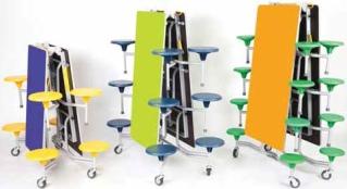 Platzsparende Tisch-Sitz-Gruppen von Sico