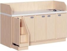 Breite 179 cm: Treppe/Aufgang + 3-reihig + Waschbeckenschrank
