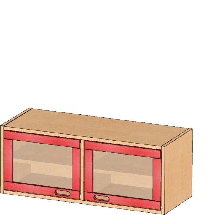 Aufsatz-/Hängeschrank, B/H/T 102 x 40 x 40 cm