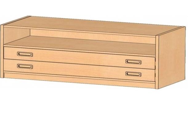 Korpusschrank mit Dekorblenden, B/H/T 102 x 60 x 40 cm