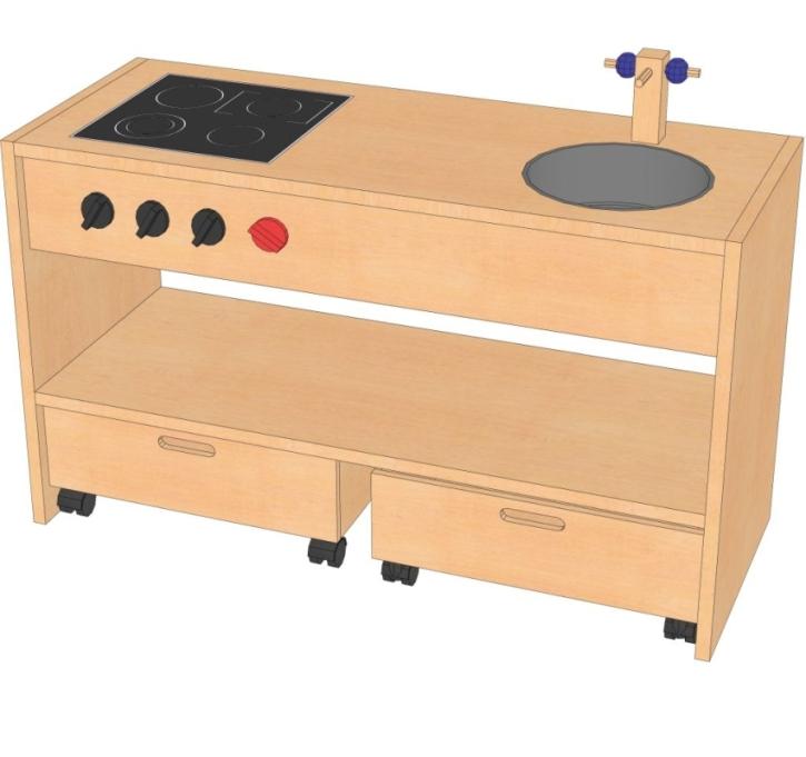 Spielküche, B/H/T: 102 x 60 x 40 cm