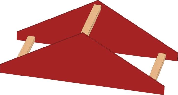 Motivaufsatz Dach, B/H/T: 106 x 35 x 40 cm