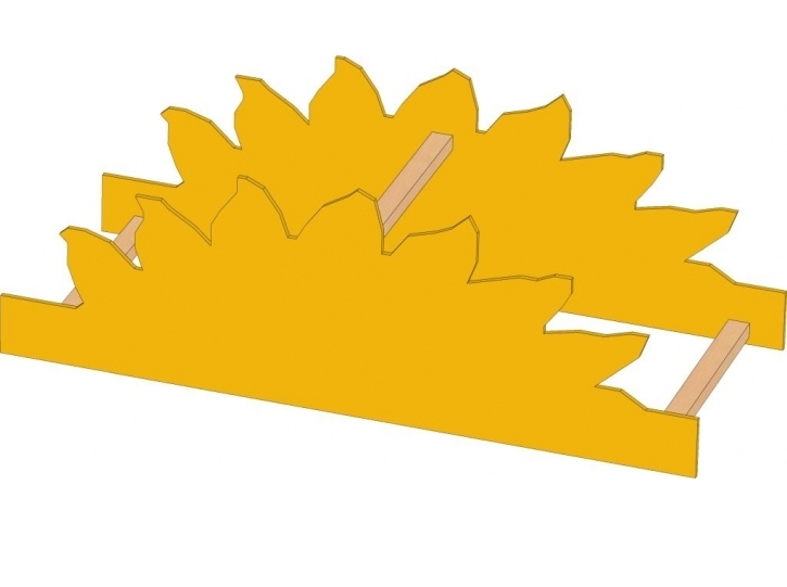 Motivaufsatz Sonne, B/H/T: 106 x 35 x 40 cm