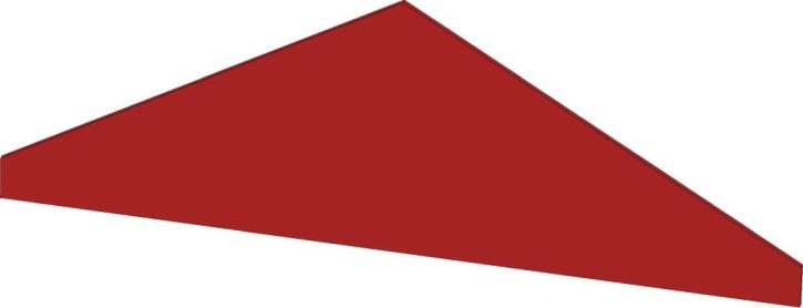 Blenddach Dreieck, B/H/T: 98 x 35 x 40 cm