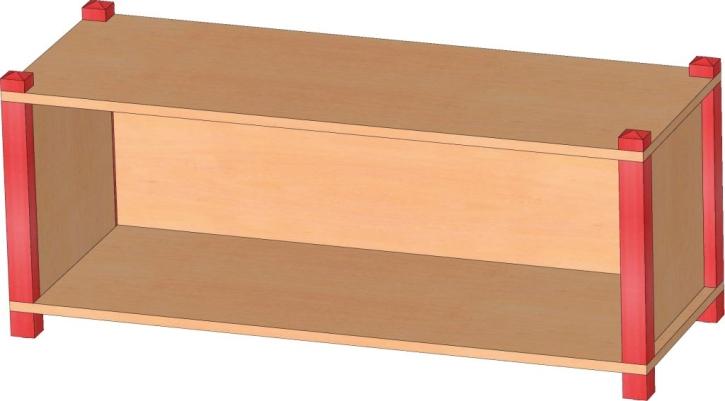 Stollenregal Breite 106 cm, 40 cm Hoch