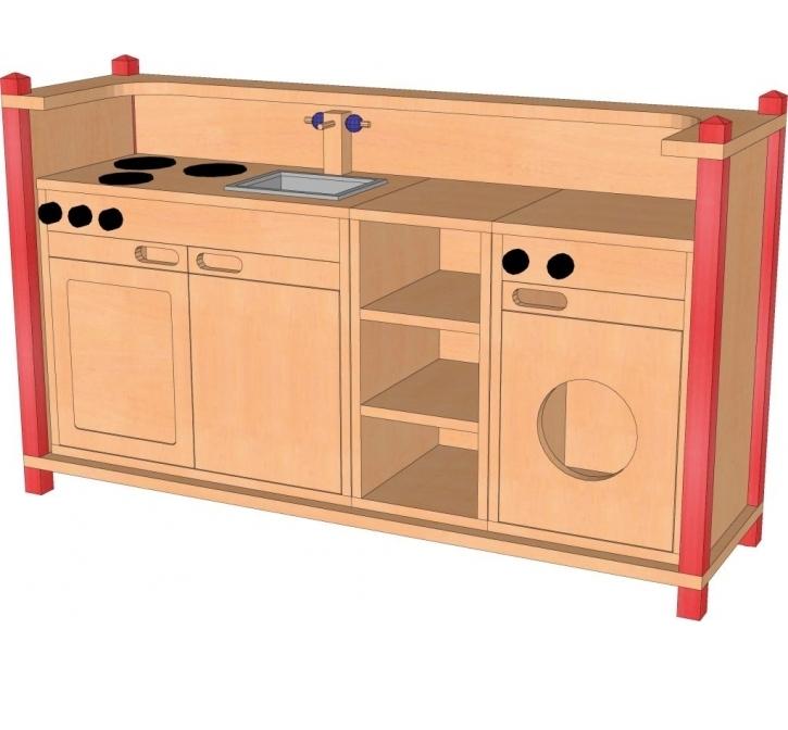 hohe Spielküche, B/H/T: 140 x 80 x 40 cm