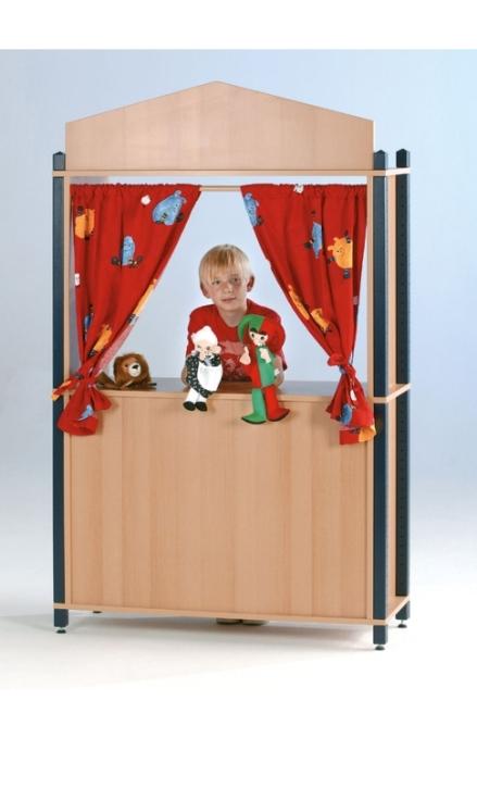Kasperletheater, B/H/T: 106 x 160 x 40 cm