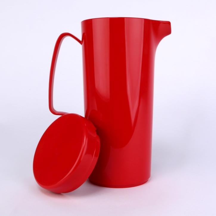 Kanne mit Deckel 1,0 Liter; Ø 9,5 cm; Höhe 23 cm Erdbeerrot