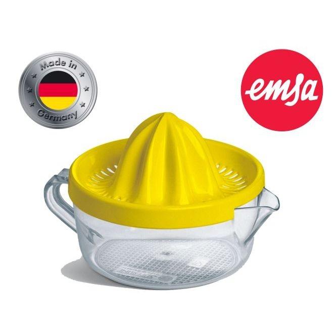 Zitronenpresse von EMSA, GELB, 0,40 Liter, robuster Kunststoff