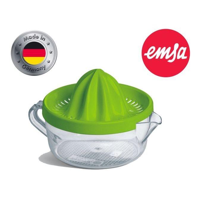 Zitronenpresse von EMSA, GRÜN, 0,40 Liter, robuster Kunststoff