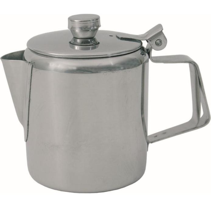 (1+2) Tee- / Kaffeekanne, mit Kaltgriff + Sieb, Edelstahl (Größe wählen)