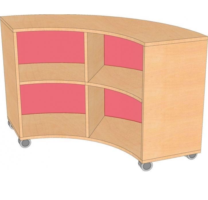 Bogenschrank- Viertelkreis, B/H/T 100 x 80 x 100 cm
