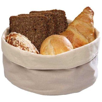 (8) Brottasche aus Baumwolle, rund (Ausführung wählen)