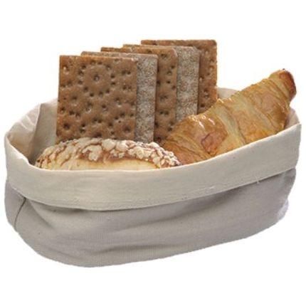 (7) Brottasche aus Baumwolle, oval (Ausführung wählen)