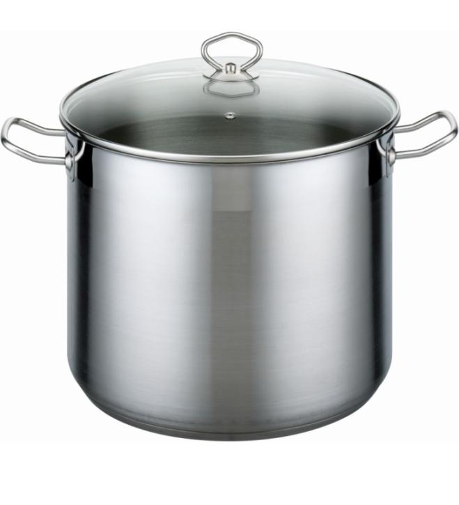 Edelstahl-Topf mit Deckel, Profi-Qualität, induktionsggeignet (10 + 17 Liter)