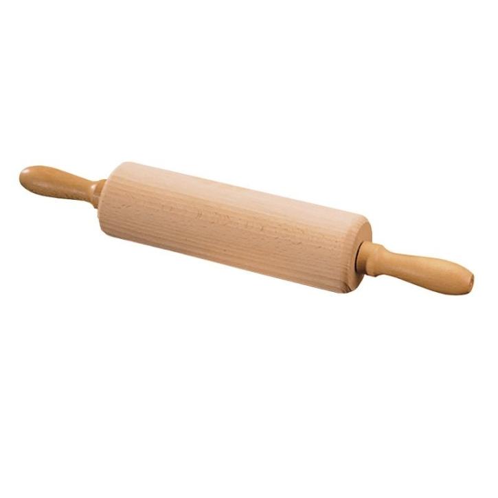 Kinder-Teigrolle, gefertigt aus Buche, mit Holzachse, Ma