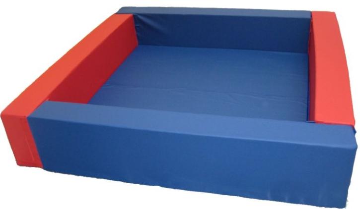 Bällebad Quadrat, 180x180 cm (= innen 1,96 m²), Höhe 40 cm, Wandstärke 20 cm