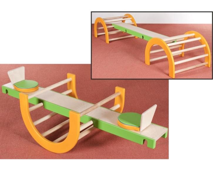 2 in 1: Wippe mit Sitzen / Balanciersteg