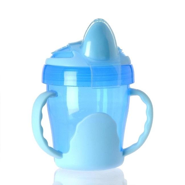 Abverkauf: 2-Henkel-Griff-Trinklerntasse, auslaufsicher, 200 ml, Farbe Blau