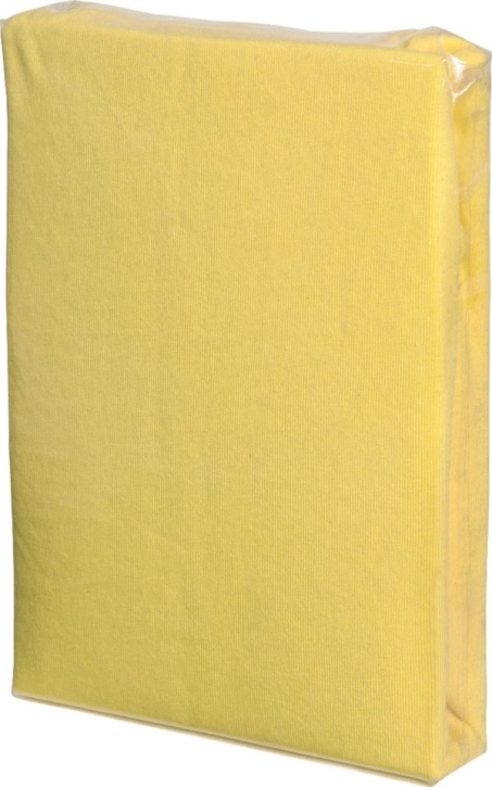 Spannbettlaken GELB, Baumwoll-Jersey, Universalgröße 60-70 x 120-140 cm