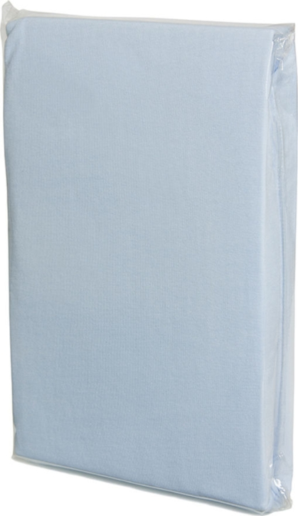 Spannbettlaken HELLBLAU, Baumwoll-Jersey, Universalgröße 60-70 x 120-140 cm