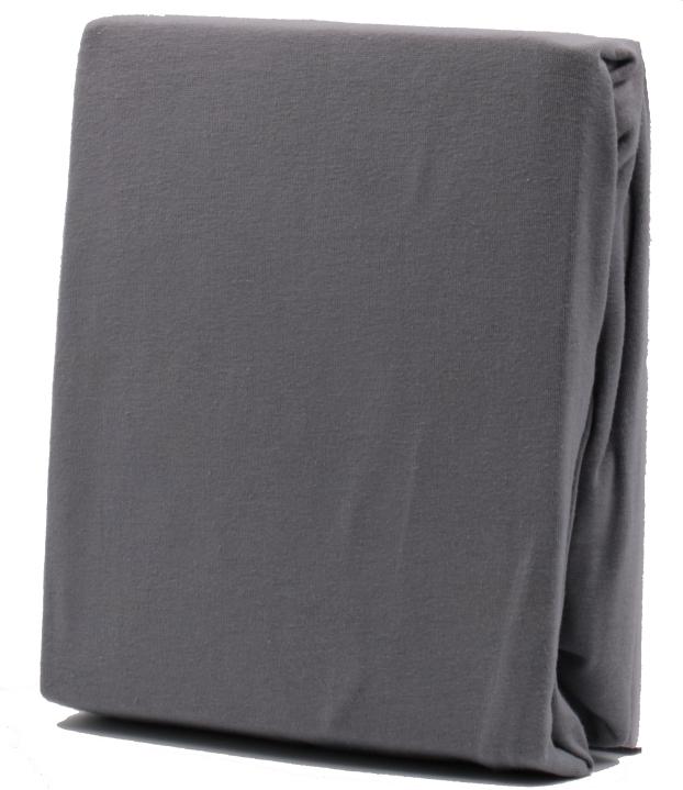 Spannbettlaken GRAU, Baumwoll-Jersey, Universalgröße 60-70 x 120-140 cm,