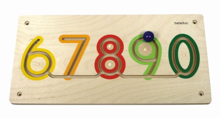 "Wand-Lernelement ""Zahlen 6-0"", 60 x 30 x 5 cm"