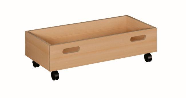 Rollkasten für Spielpodeste mit Tretford, B/H/T 70 x 20 x 33 cm
