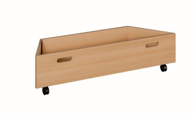 Rollkasten Trapez groß für Spielpodeste mit Tretford