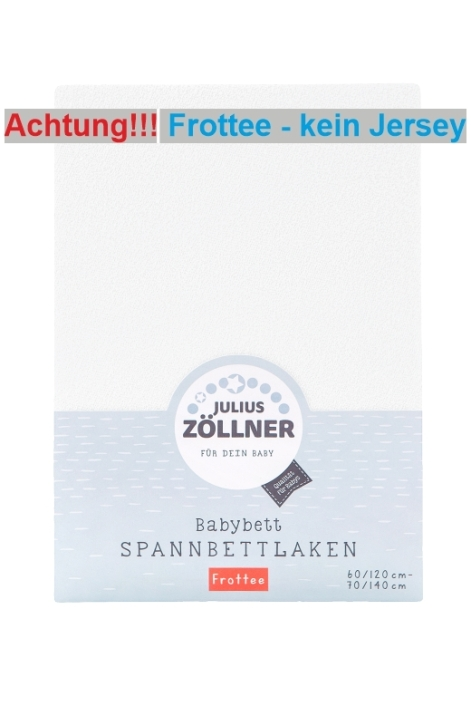 Spannbettlaken aus Frottee, WEISS, Ausführung klein: 50x100 cm