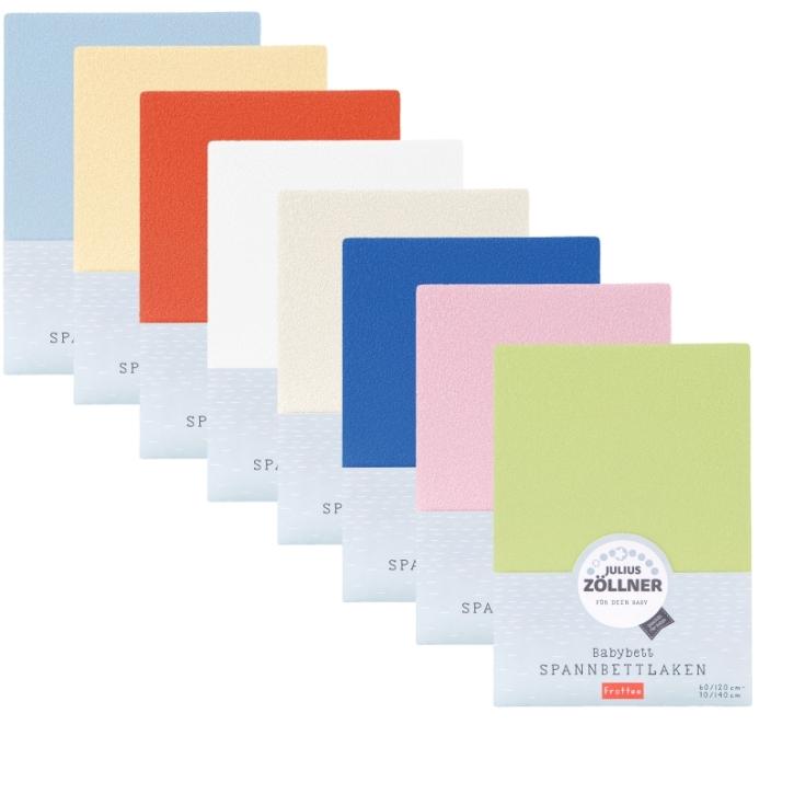 Spannbettlaken aus Frottee, Universalgröße 60-70 x 120-140 cm (Farbe wählen)