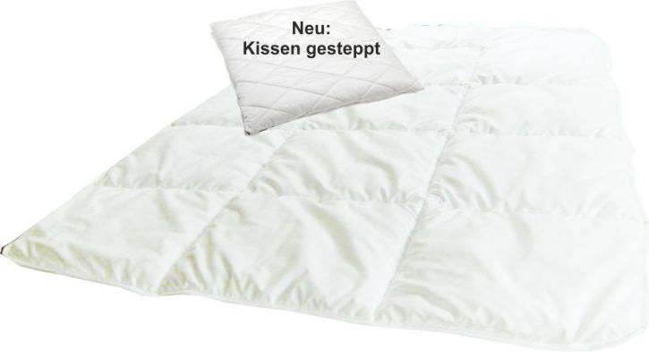 Sparset: Kissen 40x40 cm + Decke 75x100 cm, gesteppt