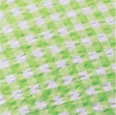 """Bettwäsche aus bügelfreiem Seersucker, """"Karo grün"""" (Ausführung wählen)"""