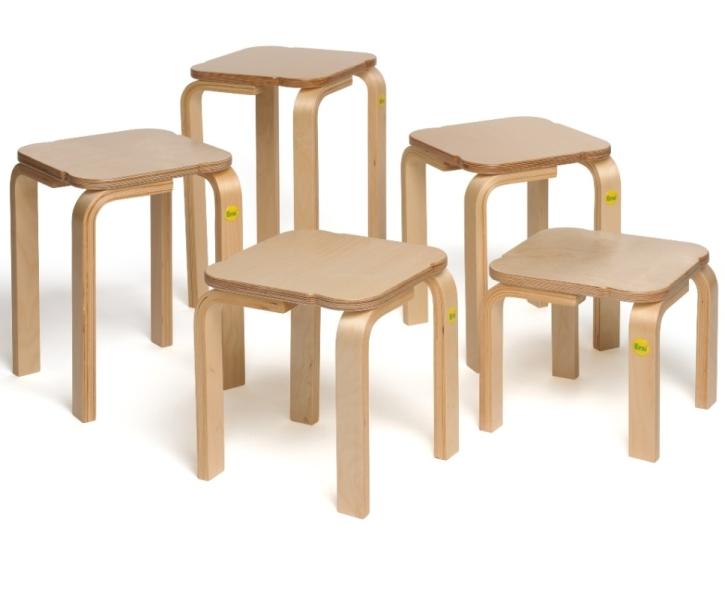 Stapelhocker aus Formholz (aus 6 Höhen wählen!)