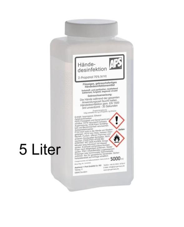 Desinfektionsmittel für Hände, 5,0 Liter, Flasche mit Drehaufsatz