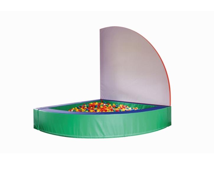 Bällebad mit Abdeckung, Schenkellänge 200 cm, Höhe 46 cm