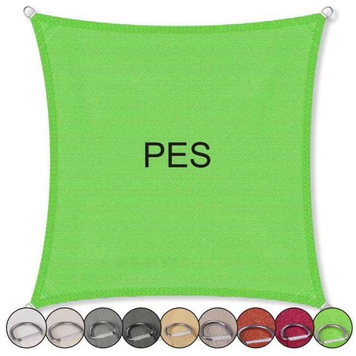 Sonnensegel Quadrat, PES (Größe und Farbe wählen)