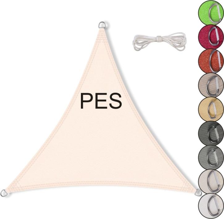 Sonnensegel gleichseitiges Dreieck, PES (Größe und Farbe wählen)