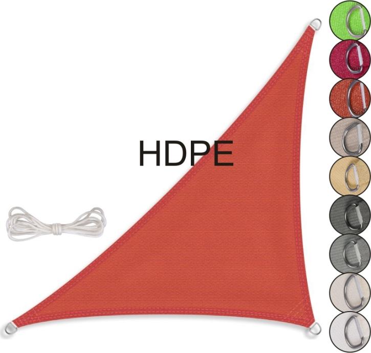 Sonnensegel rechtwinkliges Dreieck, HDPE (Größe und Farbe wählen)