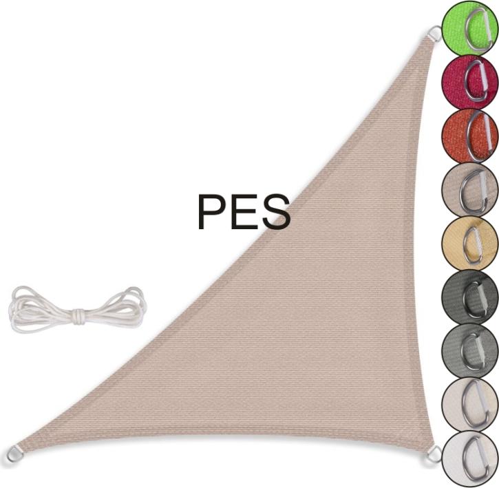 Sonnensegel rechtwinkliges Dreieck, PES (Größe und Farbe wählen)