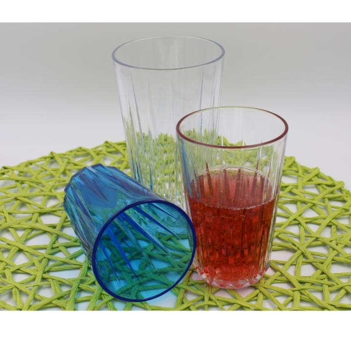 Trinkbecher in Kristallglasoptik 0,15 - 0,30 Liter (Farbe wählen)