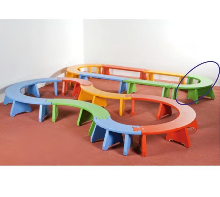 Puzzlebänkchen stapelbar - Halbkreis klein (Farbe wählen!)
