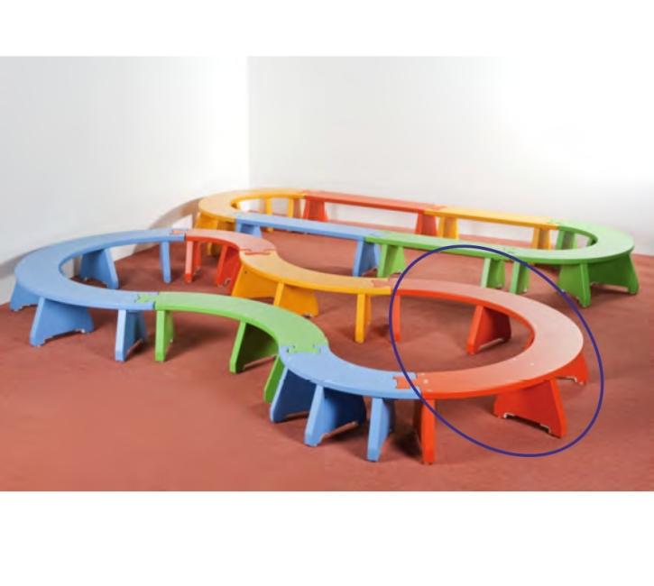 Puzzlebänkchen stapelbar - Halbkreis groß (Farbe wählen!)