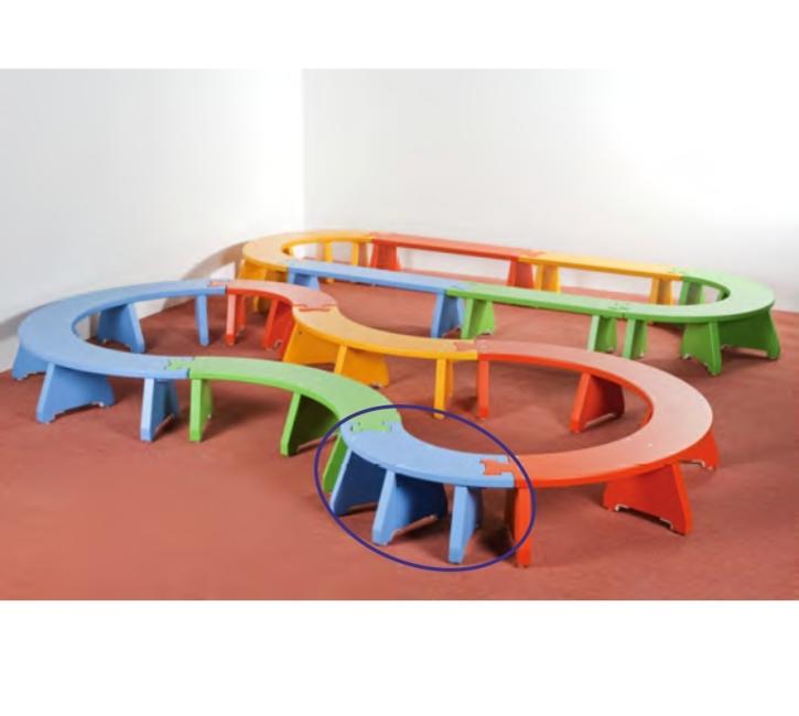 Puzzlebänkchen stapelbar - Viertelkreis klein (Farbe wählen!)