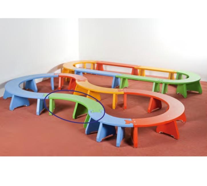 Puzzlebänkchen stapelbar - Viertelkreis groß (Farbe wählen!)
