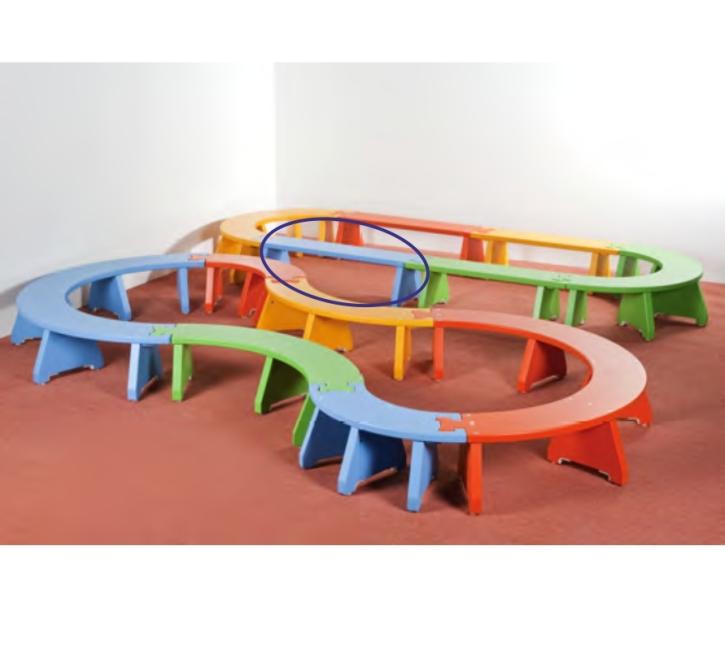 Puzzlebänkchen stapelbar - gerade (Farbe wählen!)