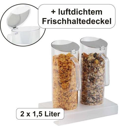 Cerealien-Bar inkl. 2 Karaffen à 1,5 Liter, B/T/H: 26×17×28,5 cm