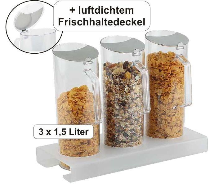 Cerealien-Bar inkl. 3 Karaffen à 1,5 Liter, B/T/H: 38×17×28,5 cm
