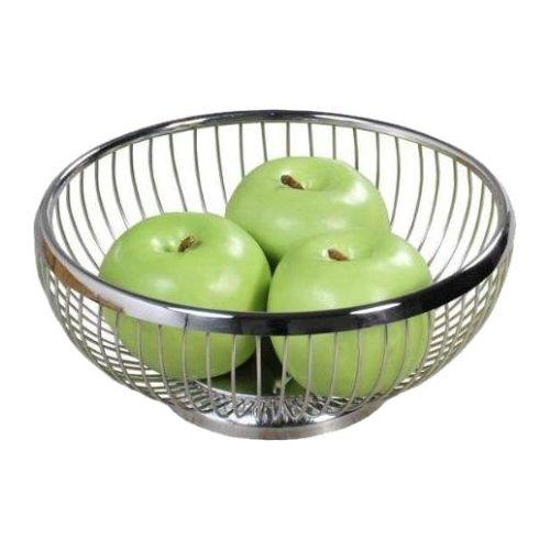 Brot- und Obstkorb Ø 20,5 × Höhe 8,5 cm, Edelstahl 18/10, hochglanzpoliert