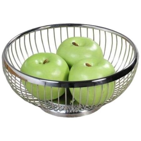 Brot- und Obstkorb Ø 25,5 × Höhe 9,5 cm, Edelstahl 18/10, hochglanzpoliert